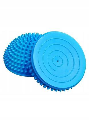 Полусфера массажная, балансир-платформа киндербол (голубая)