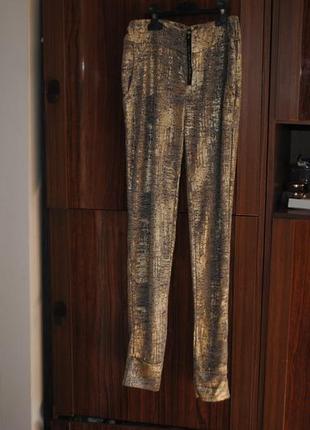Штаны-брюки с высокой посадкой с золотым напылением и брюки лосины с выс. посадкой !