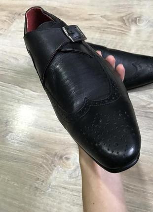 Мужские классические кожаные туфли pierre cardin монки оксфорды6 фото