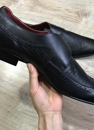 Мужские классические кожаные туфли pierre cardin монки оксфорды4 фото