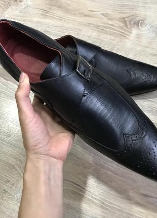 Мужские классические кожаные туфли pierre cardin монки оксфорды5 фото