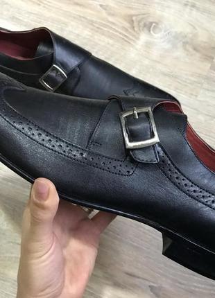 Мужские классические кожаные туфли pierre cardin монки оксфорды3 фото