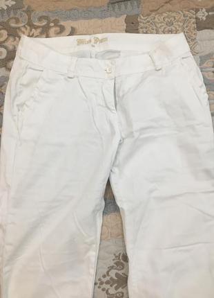 Белый брюки
