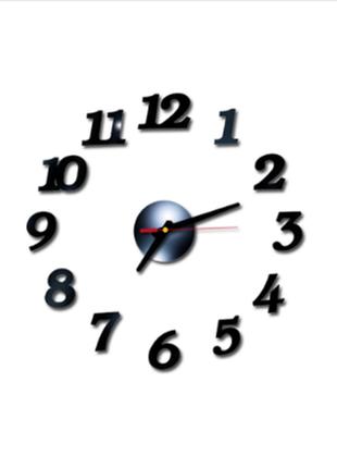 Настенные часы бескаркасные 3d арабские цифры