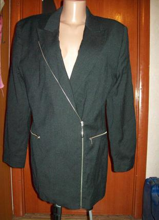 Жакет,легкое пальто-косуха marc aurel 60%шерсть+40%вискоза пог-51см
