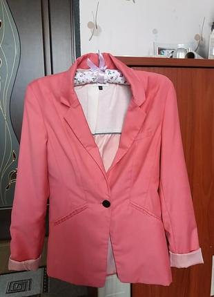 Пиджак кораловый,розовый.