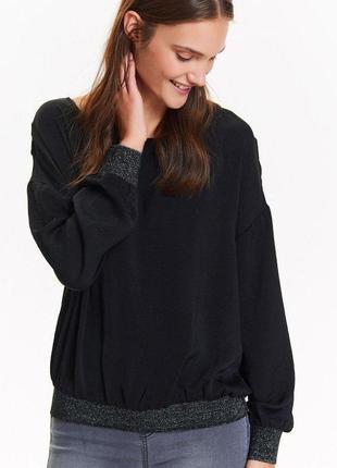 Лёгкий чёрный свитшот блуза top secret