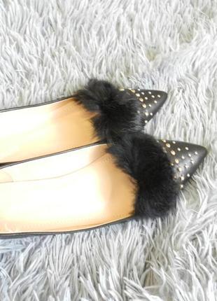 Балетки  туфли мюли лоферы эко кожа мех