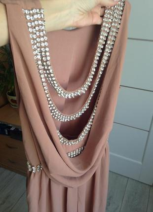 Роскошное вечернее выпускное платье макси с камнями tfnc london2 фото