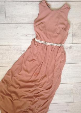 Роскошное вечернее выпускное платье макси с камнями tfnc london3 фото