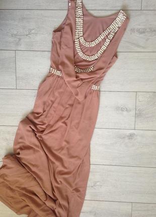 Роскошное вечернее выпускное платье макси с камнями tfnc london5 фото