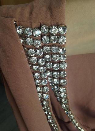 Роскошное вечернее выпускное платье макси с камнями tfnc london7 фото