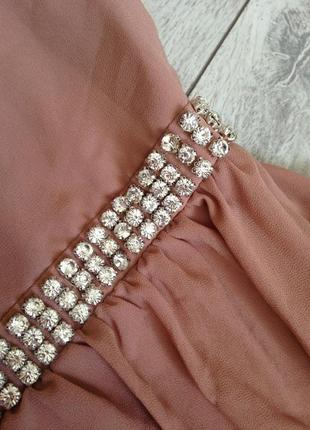 Роскошное вечернее выпускное платье макси с камнями tfnc london8 фото