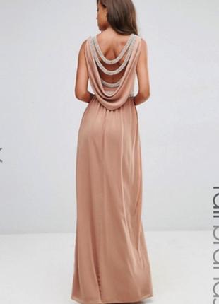 Роскошное вечернее выпускное платье макси с камнями tfnc london9 фото