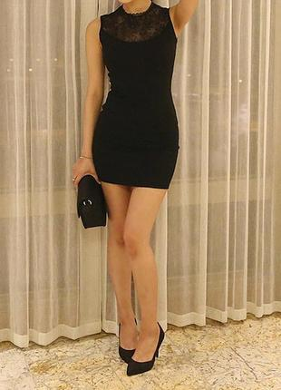 Чёрное платье sale