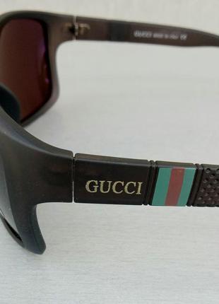 Gucci очки мужские солнцезащитные коричневые поляризированые