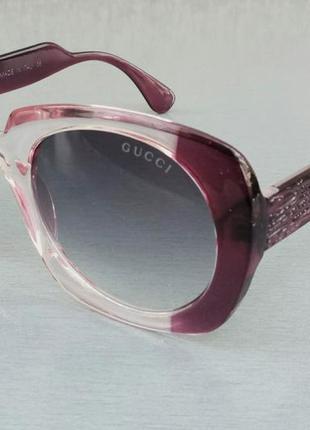 Gucci очки женские солнцезащитные розово бордовые с градиентом