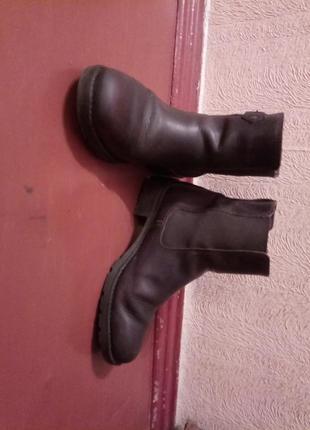 Ботинки next сапоги осень весна коричневые кожа
