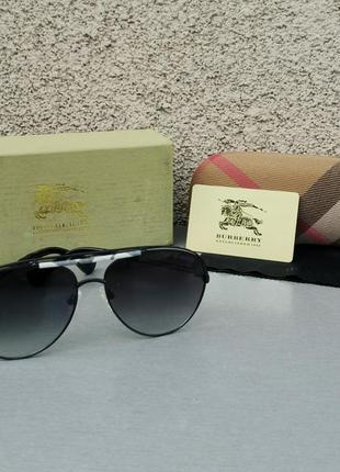 Burberry очки капли унисекс солнцезащитные черные с градиентом