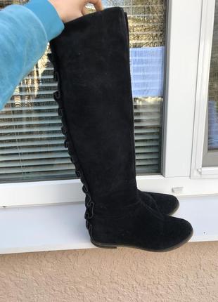 Зимние замшевые сапоги/натуральные ботинки/кожаная обувь