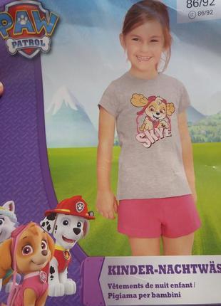 Пижама на девочку paw patrol.
