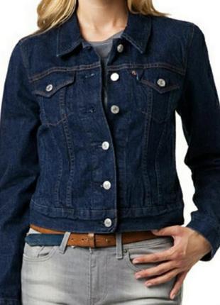 Джинсовка без потёртостей жакет джинсовый пиджак