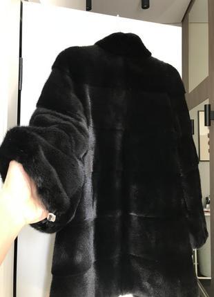 Шуба норковая black nafa