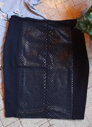 Юбка карандаш черная 48размер