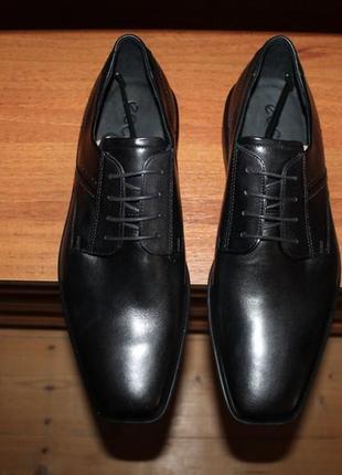 Классические кожаные туфли ecco оригинал