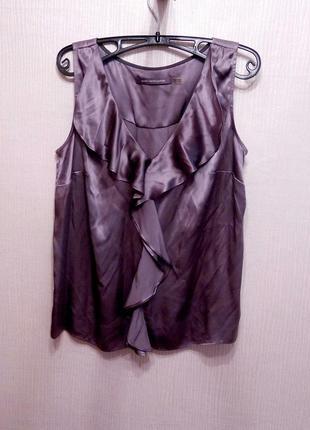 Шелковая блуза топ