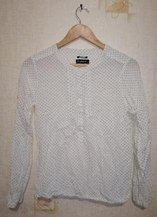 Рубашка/блуза в горошок винтаж