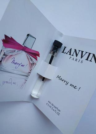 Очень стойкий парфюм, мини духи marry me lanvin