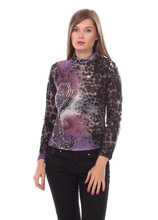 Гольф женский pbl сеточка 44 фиолетовый