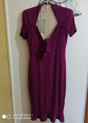 Крутецьке брендове віскозне платтячко кольору фуксія-бордо