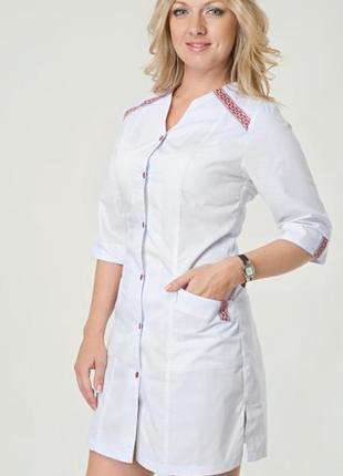 Белый халат медицинский, батист, р. 40, 48-56; женская медицинская одежда, 892142