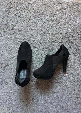 Туфли чёрные средний каблук new look