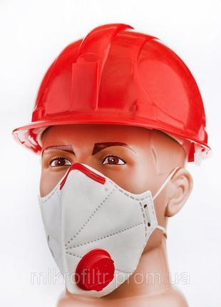 Респиратор микрон с клапаном fpp3, маска защитная, высокая степень защиты2 фото