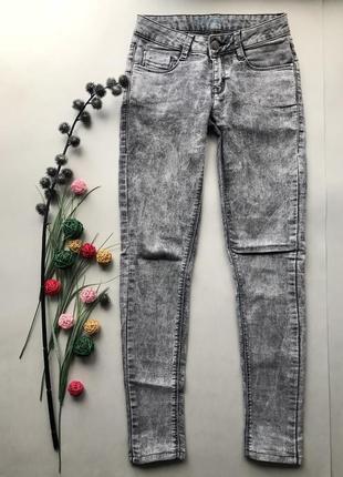 Серые джинсы с высокой посадкой талией скинни / skinny в обтяжку варёнка