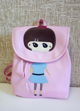 Рюкзак из кожзама для девочки