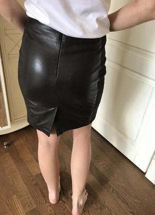 Стильная юбка из эко кожи😍