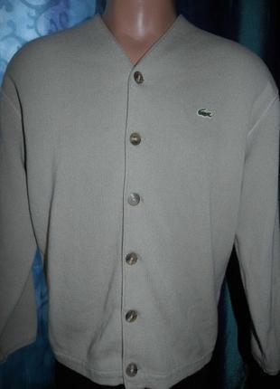 Свитер мужская толстовка на пуговицах - lacoste - 4/m-spain