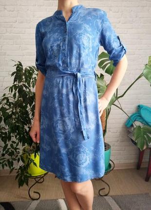 Стильне платтячко зі штапелю