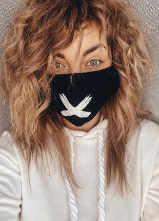 Многоразовая маска защитная из медицинского материала спанбонд