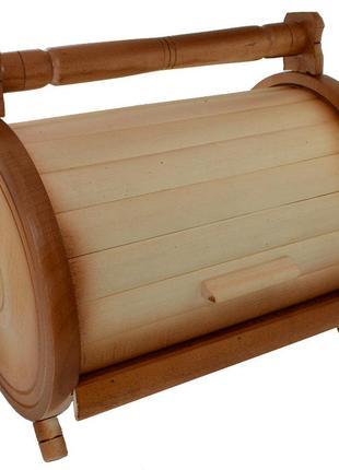 Круглая хлебница в виде бочонка