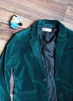 Фірмовий оксамитовий піджак смарагдового кольору