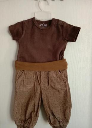 Комплект штанины на подкладке и футболка
