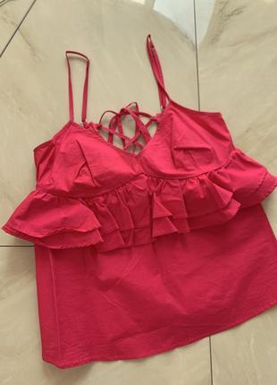 Летняя блуза шнуровка нарядная