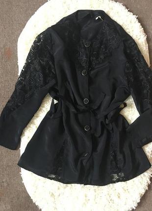 Ажурная блуза блузка рубашка футболка пиджак жакет накидка платье