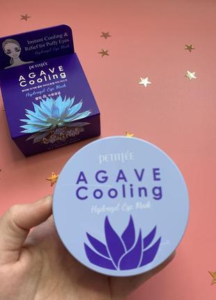 Гидрогелевые  патчи для глаз с экстрактом агавы petitfee&koelf agave cooling
