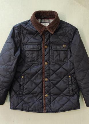 Стёганая демисезонная куртка, ветровка на мальчика, 5-6 лет